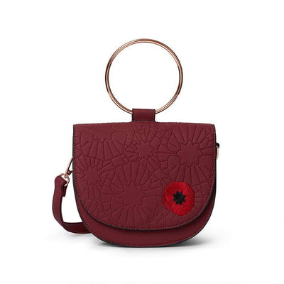 Erstwilder Poppy Field Saddle Bag BA0011-1000