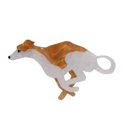 Weightless Whippet Brooch