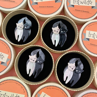 The Lovecats Brooch