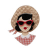 Picnic Portrait Brooch
