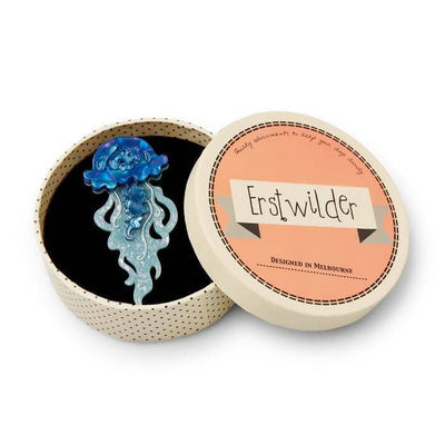 Erstwilder Slippin' Under Jellyfish Brooch BH6637-3132
