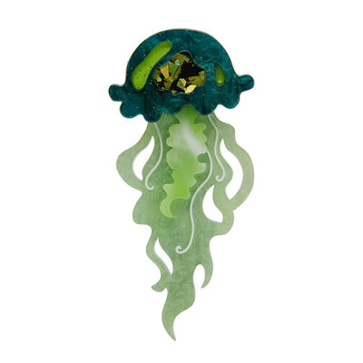 Erstwilder Slippin' Under Jellyfish Brooch BH6637-4041