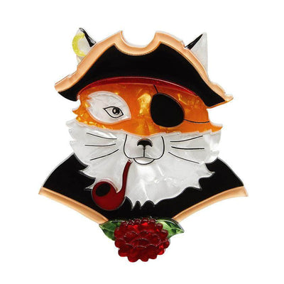 The Cunning Captain Fox Brooch