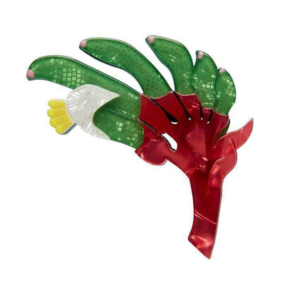 Bouncing Botannical Flower Brooch