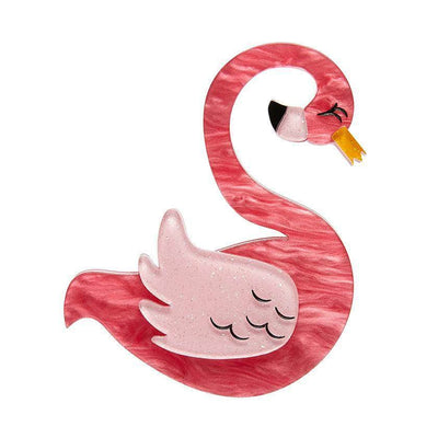 Francie the Flamingo Brooch
