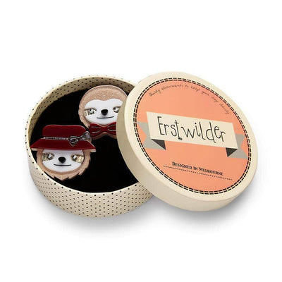 Erstwilder The Slothertons Double Brooch BH6681-8112