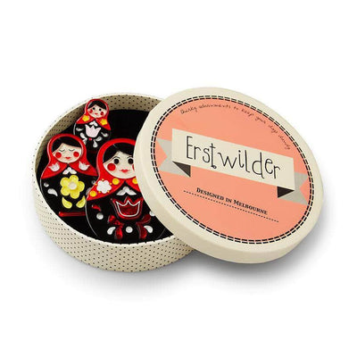 Erstwilder Matryoshka Memories Toy Brooch Set BH6712-1070