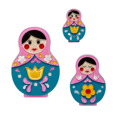 Matryoshka Memories Toy Brooch Set (PRE-ORDER)