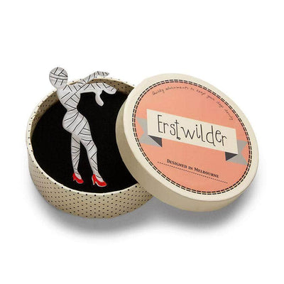 Bandaged Beauty Mummy Brooch