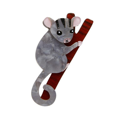 Possum at Play Brooch