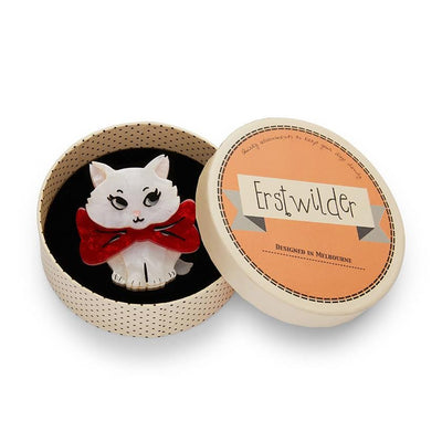 Erstwilder Wrapped Up in Love Kitten Brooch BH6933-8010