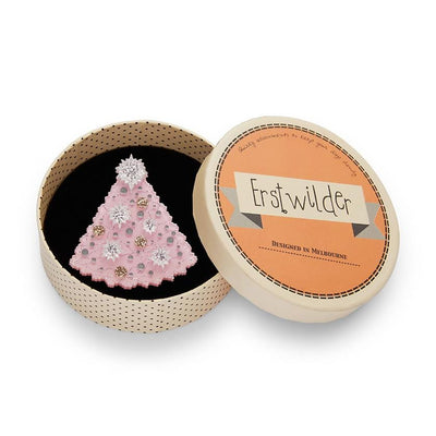 Erstwilder The Night Before Pink-Mas Brooch BH6939-4010