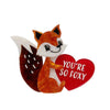 Erstwilder You're So Foxy Brooch BH6985-6180