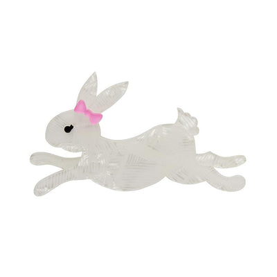 Erstwilder Marshmallow Rabbit Brooch BH7057-8220