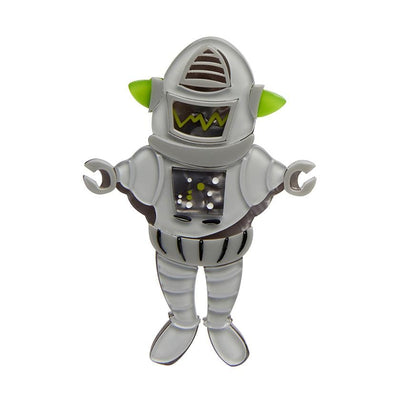 Erstwilder Robert the Rational Robot Brooch BH7121-7100