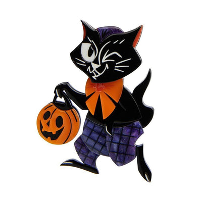 Erstwilder Treat Seeker Cat Brooch BH7126-7061
