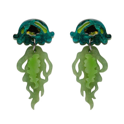 Slippin' Under Jellyfish Earrings