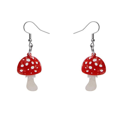 Erstwilder Twinning Toadstools Drop Earrings E7104-1080