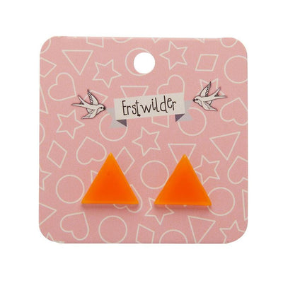 Erstwilder Essentials Triangle Bubble Resin Stud Earrings - Orange EE0001-BU6100
