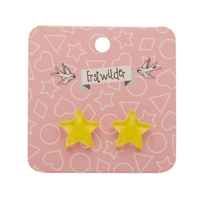 Erstwilder Essentials Star Bubble Resin Stud Earrings - Yellow EE0002-BU6000
