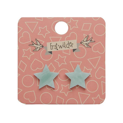 Erstwilder Essentials Star Marble Resin Stud Earrings - Mint EE0002-MA4300