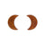 Erstwilder Essentials Crescent Moon Ripple Resin Stud Earrings - Gold EE0006-RI6500