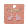 Bunny Bubble Resin Stud Earrings - Pink