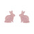 Erstwilder Essentials Bunny Bubble Resin Stud Earrings - Pink EE0007-BU2000