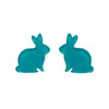 Bunny Bubble Resin Stud Earrings - Teal