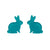 Erstwilder Essentials Bunny Bubble Resin Stud Earrings - Teal EE0007-BU4400