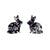 Erstwilder Essentials Bunny Chunky Glitter Resin Stud Earrings - Holographic Silver EE0007-CG0272