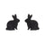 Erstwilder Essentials Bunny Textured Resin Stud Earrings - Black EE0007-RI7000