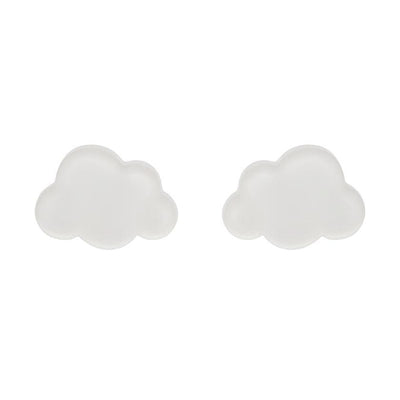 Erstwilder Essentials Cloud Bubble Resin Stud Earrings - White EE0008-BU8000