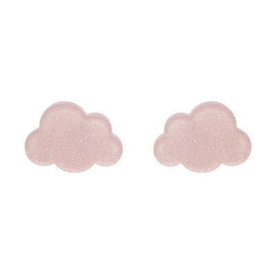 Erstwilder Essentials Cloud Glitter Resin Stud Earrings - Pink EE0008-SG2000