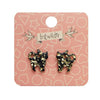 Erstwilder Essentials Cat Chunky Glitter Resin Stud Earrings - Yellow EE0012-CG6000