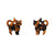 Erstwilder Essentials Cat Chunky Glitter Resin Stud Earrings - Orange EE0012-CG6100