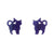 Erstwilder Essentials Cat Ripple Glitter Resin Stud Earrings - Purple EE0012-RG5000