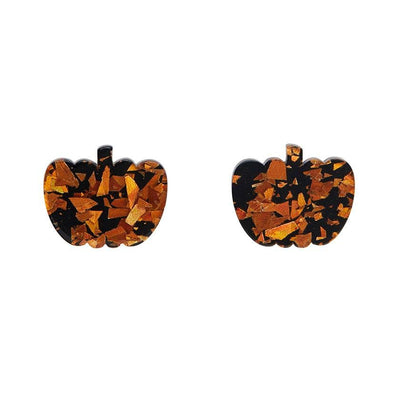 Erstwilder Essentials Pumpkin Chunky Glitter Resin Stud Earrings - Orange EE0013-CG6100