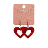 Erstwilder Essentials Heart Textured Resin Drop Earrings - Red EE1005-RI1001