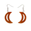 Erstwilder Essentials Crescent Moon Ripple Resin Drop Earrings - Gold EE1006-RI6500