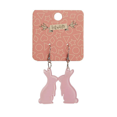 Bunny Bubble Resin Drop Earrings - Pink