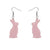 Erstwilder Essentials Bunny Bubble Resin Drop Earrings - Pink EE1007-BU2000