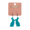Bunny Bubble Resin Drop Earrings - Teal