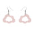 Erstwilder Essentials Cloud Glitter Resin Drop Earrings - Pink EE1008-SG2000
