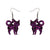 Erstwilder Essentials Cat Chunky Glitter Resin Drop Earrings - Purple EE1012-CG5000