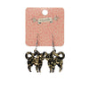 Erstwilder Essentials Cat Chunky Glitter Resin Drop Earrings - Yellow EE1012-CG6000