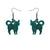 Erstwilder Essentials Cat Ripple Glitter Resin Drop Earrings - Green EE1012-RG4000