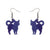 Erstwilder Essentials Cat Ripple Glitter Resin Drop Earrings - Purple EE1012-RG5000