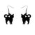 Erstwilder Essentials Cat Solid Resin Drop Earrings - Black EE1012-SO7000
