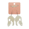 Erstwilder Essentials Fossil Ripple Resin Drop Earrings - Cream EE1018-RI8100